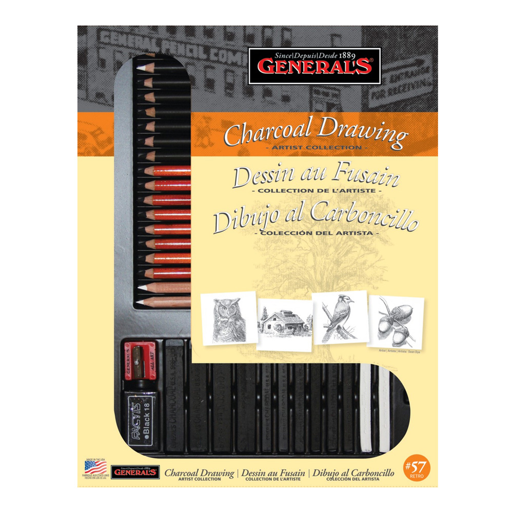 General 32 Piece Classic Charcoal Kit
