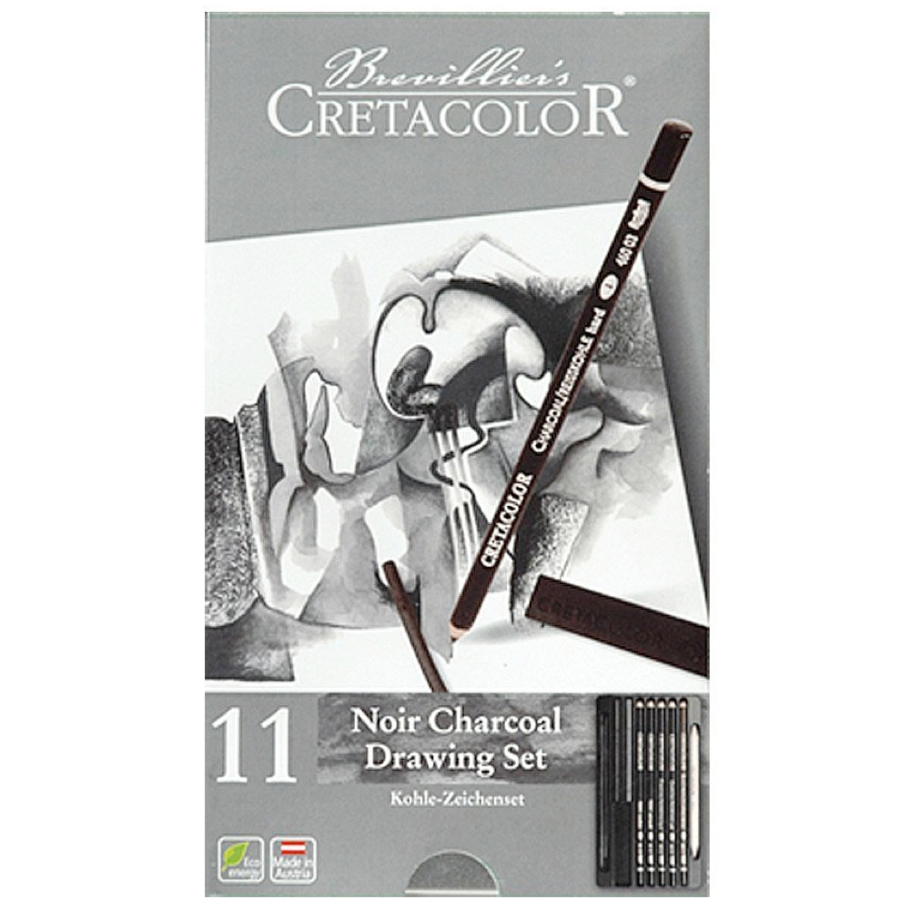 Cretacolor Noir Charcoal Drawing Set 11Pc