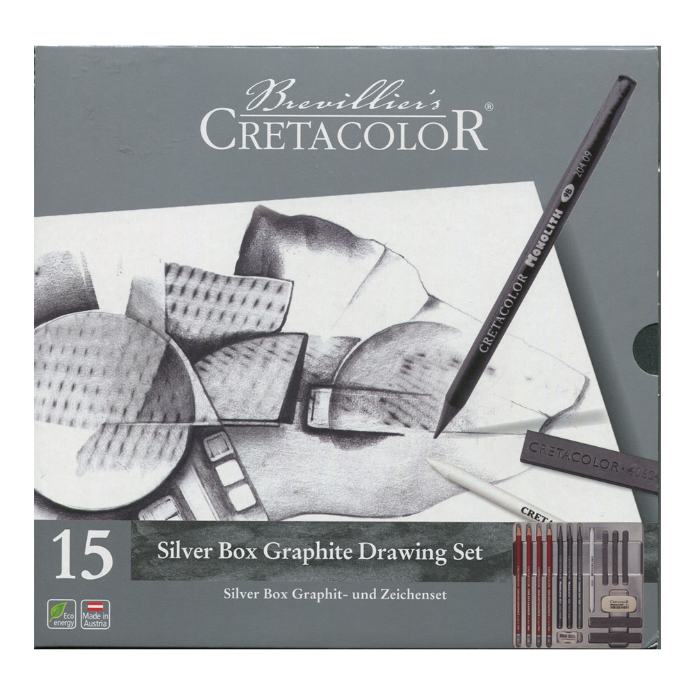 Cretacolor Silver Graphite Tin Drawing Set