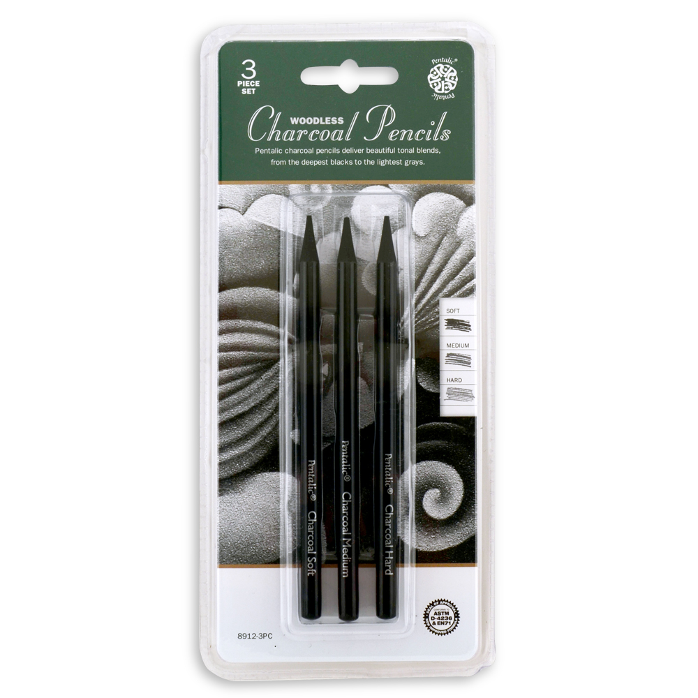 BUY Pentalic Woodless Charcoal Pencil 3 Piece Set