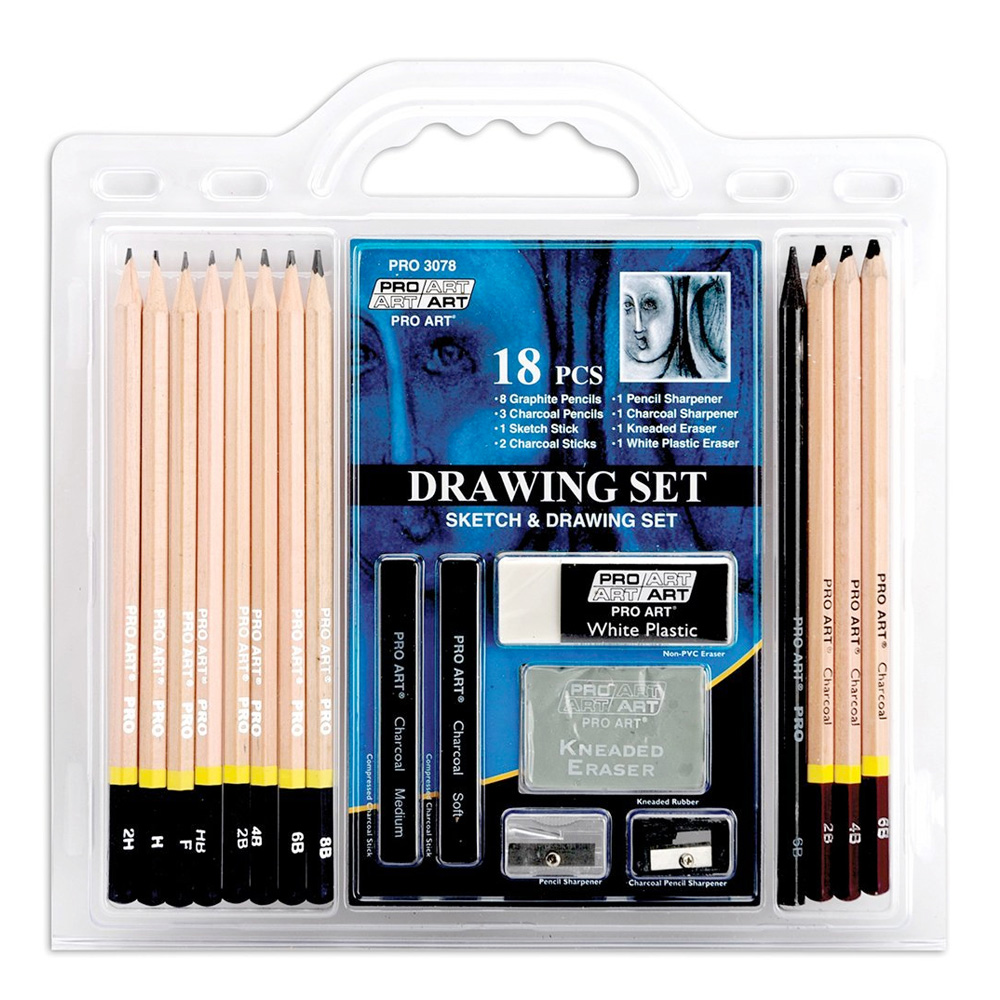 Pro Art 18-Piece Sketch/Drawing Pencil Set