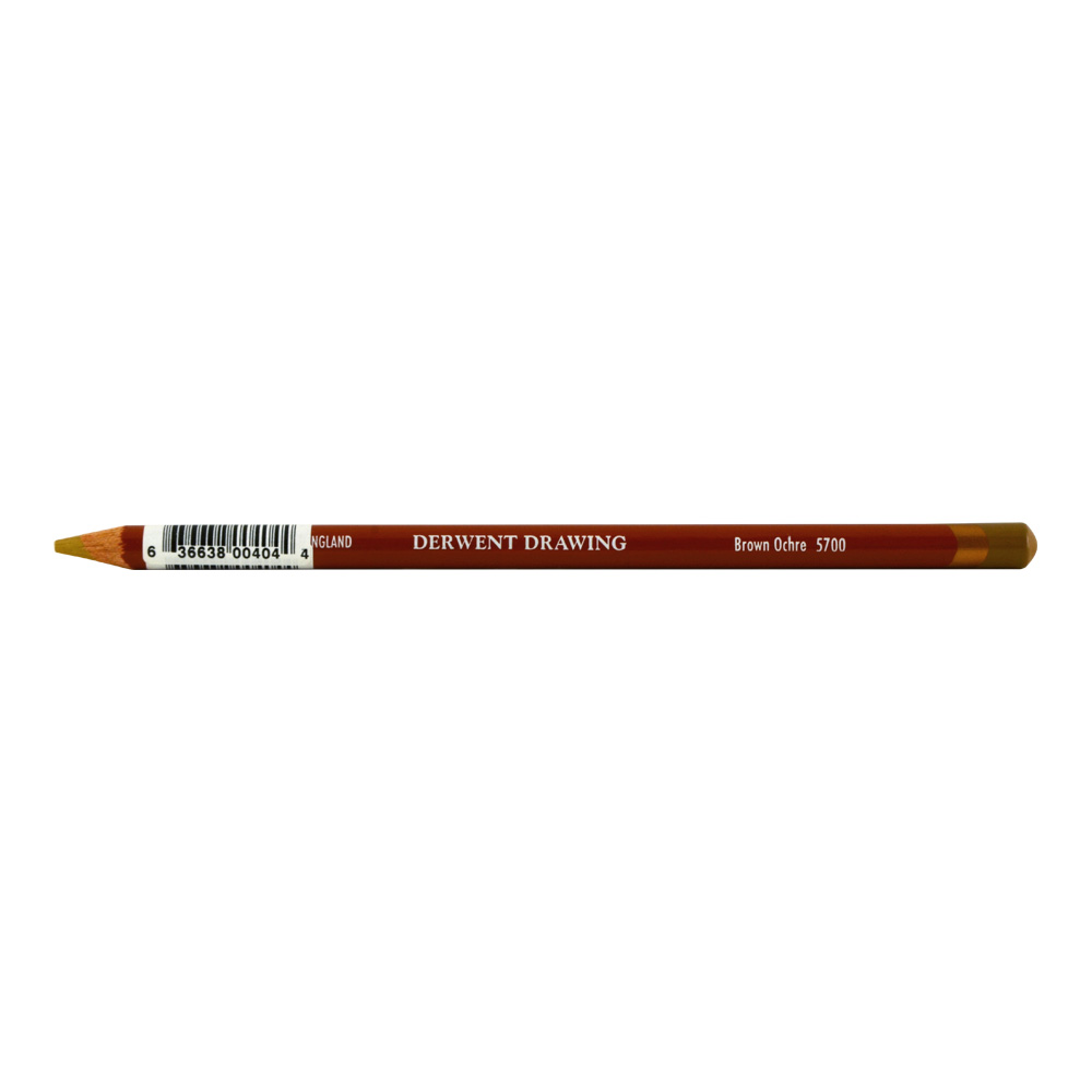 Derwent Round Drawing Pencil Brown Ochre