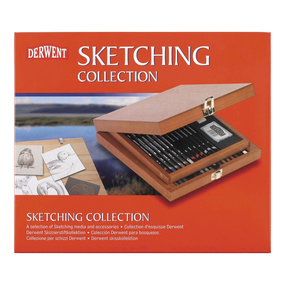 Derwent Wood Box Sketching Collection