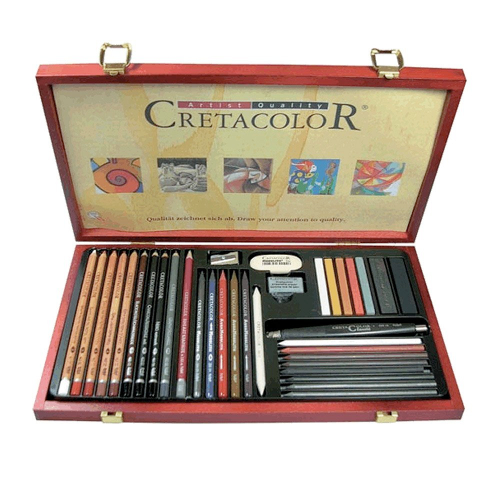 Cretacolor Ultimo Wood Box Set 36Pcs