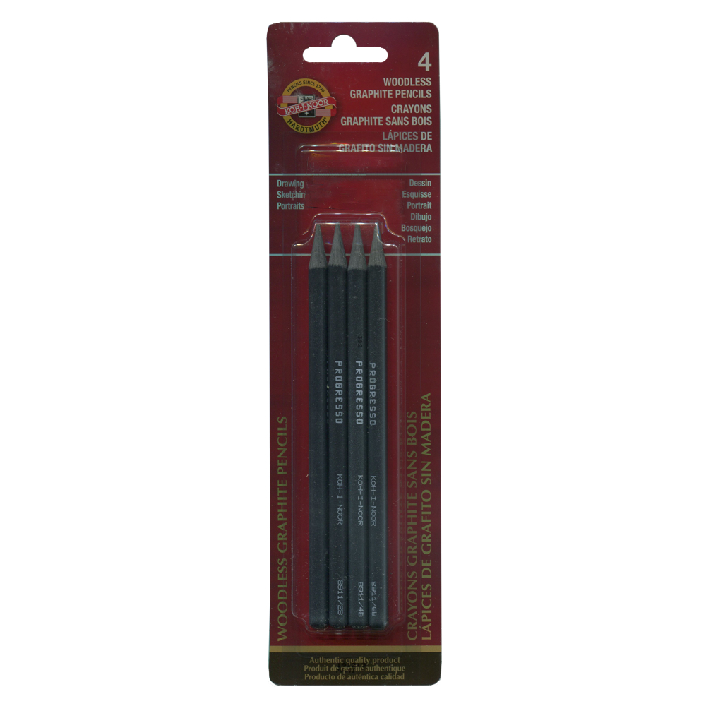 Koh-I-Noor Woodless Graphite 4/Pencil Set