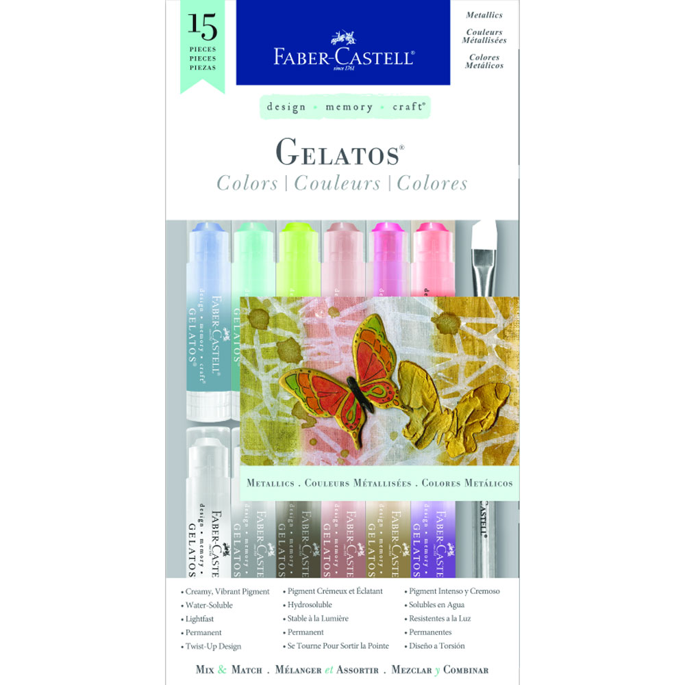 D-M-C Gelatos Set Of 15 Metallics