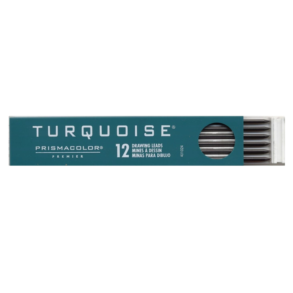 Turquoise Drawing Leads Dozen 5H