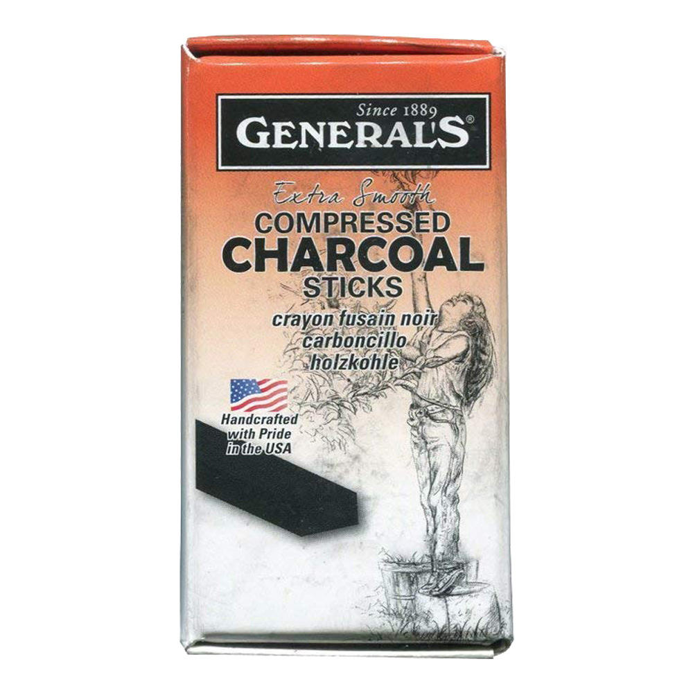General Compressed Charcoal Stick 4B 12/Box