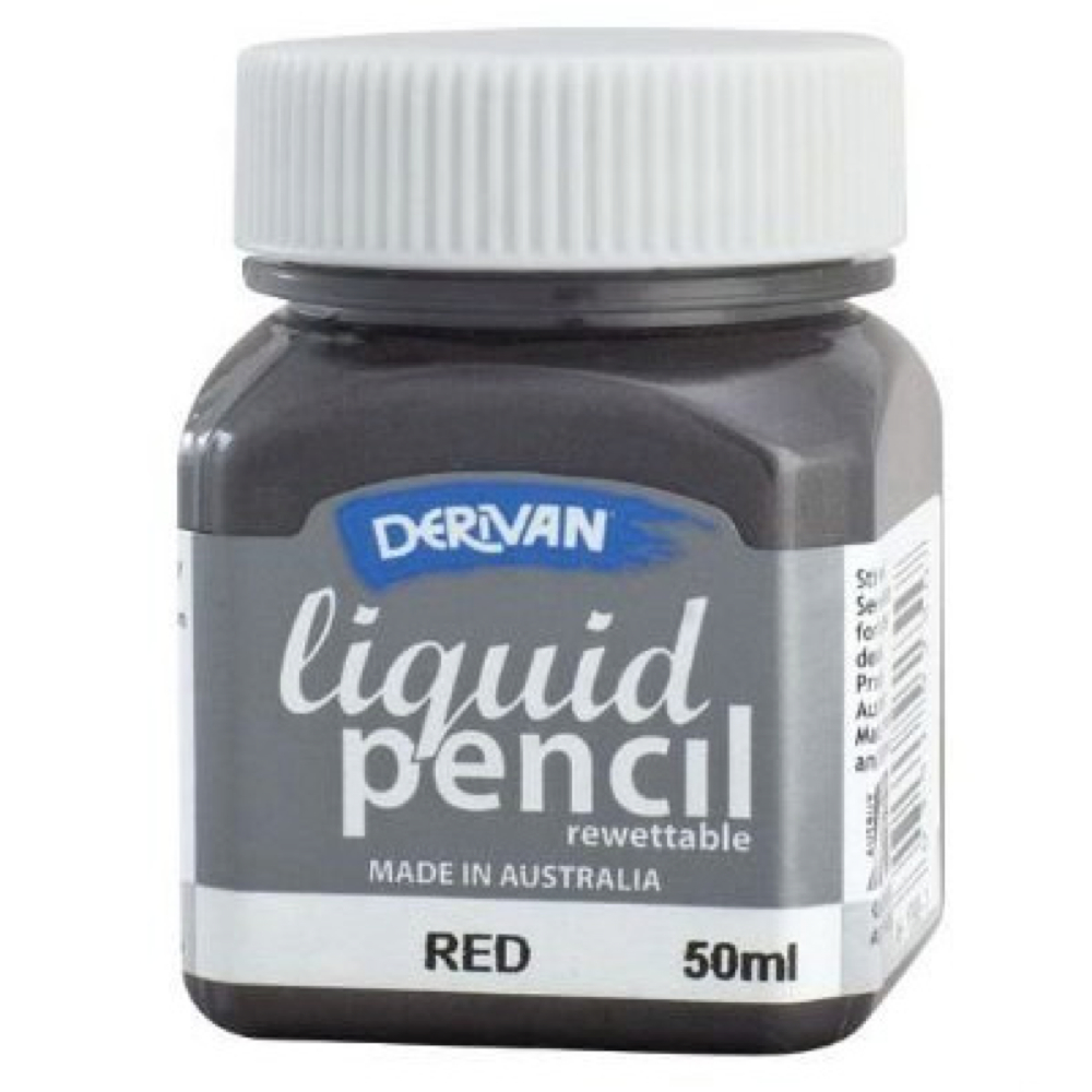 Liquid Pencil 50Ml Rewettable Red