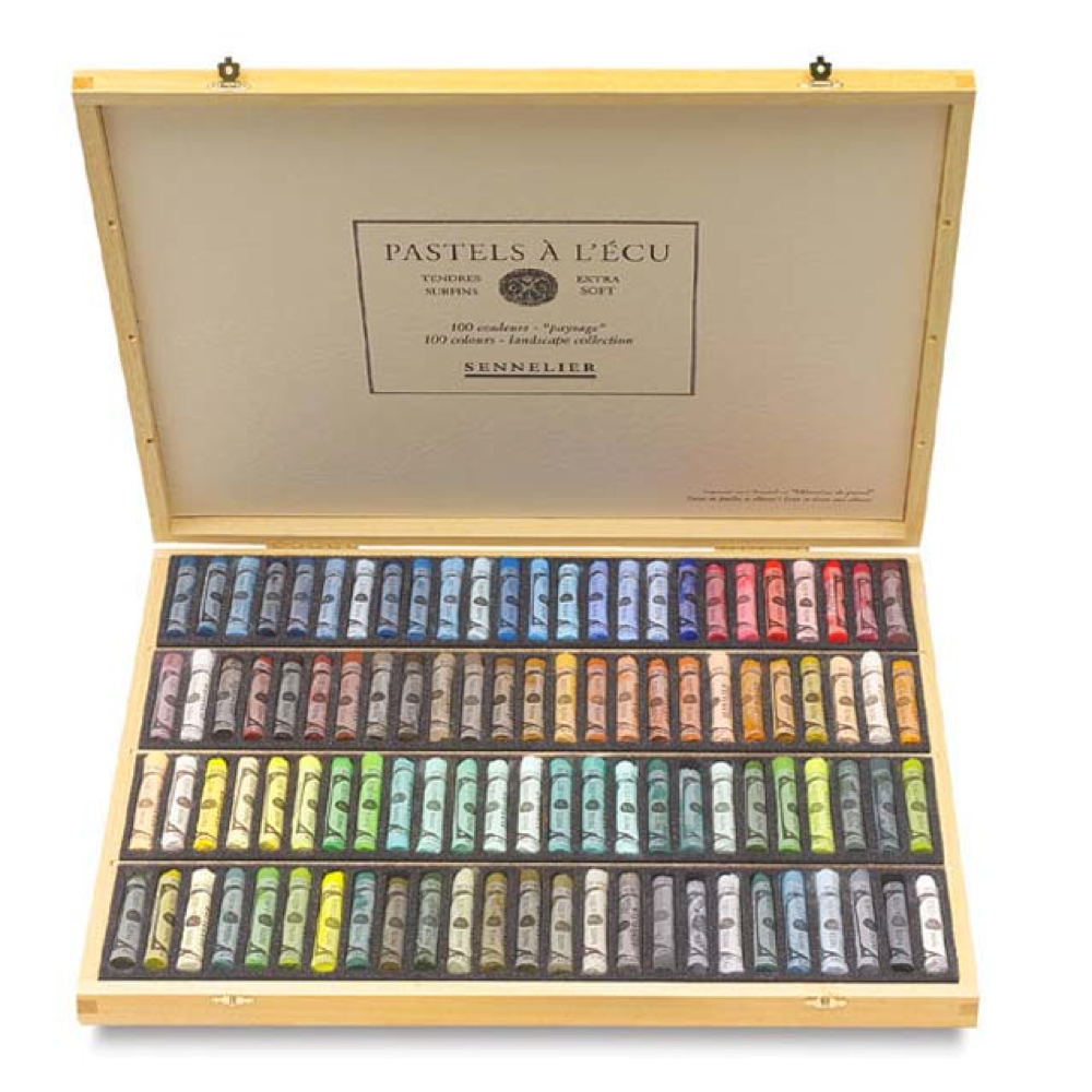 Sennelier 100 Full Pastel Landscape Wood Set