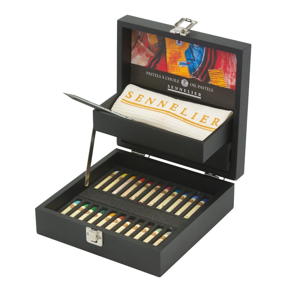 Sennelier Black Wood Oil Pastel Box Set 24Ct