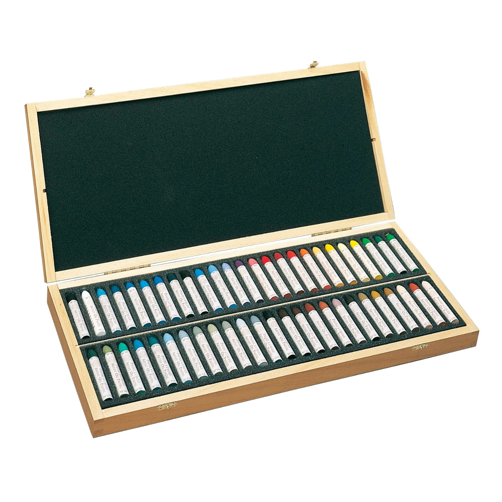 Sennelier Oil Pastel 50 Picasso Wood Box Set