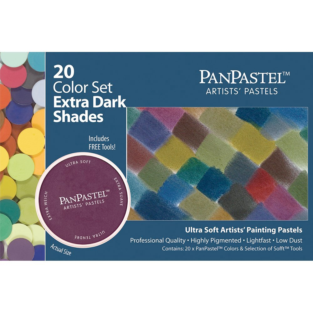 Panpastel 20 Color Extra Dark Shades Set