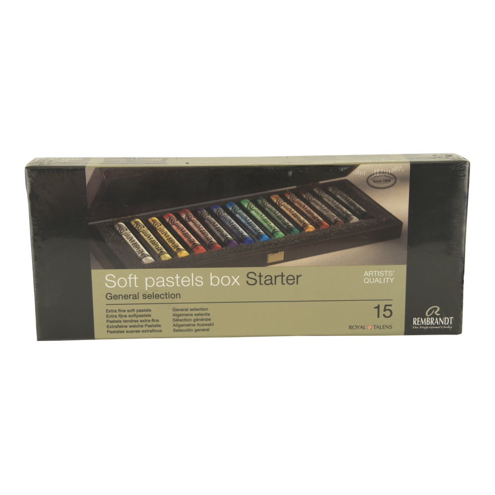 Rembrandt 15 Stick Pastel Wood Box Set