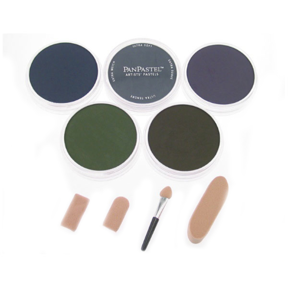 Panpastel 5 Color Set - X-Dark Shades Shadow