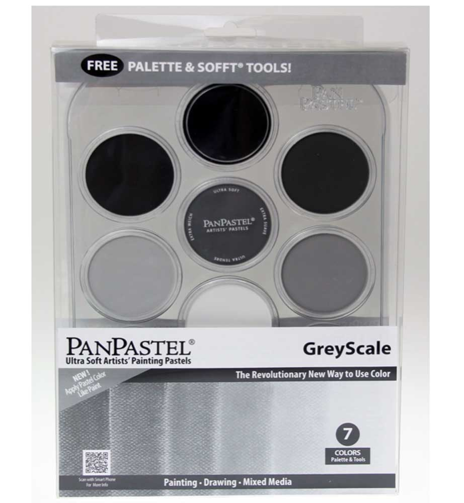 Panpastel 7 Color Grey Scale Set