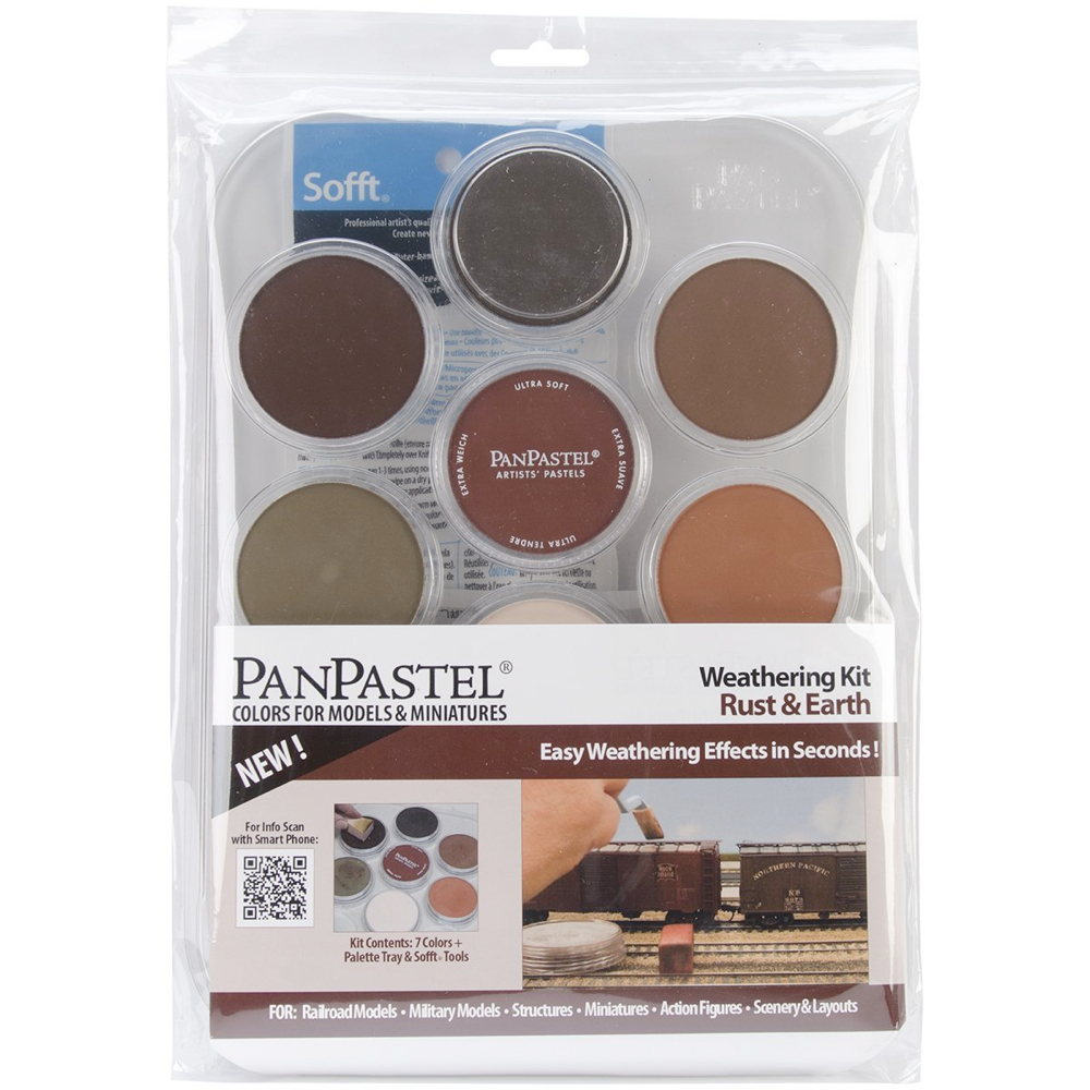 Panpastel 7 Color Weathering Set Rust & Earth