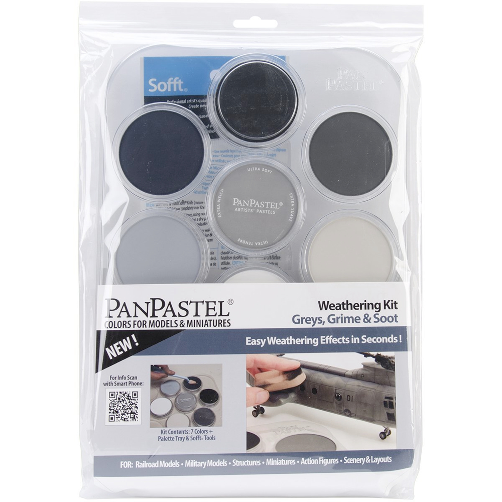 Panpastel 7 Color Weathering Set Greys & Soot