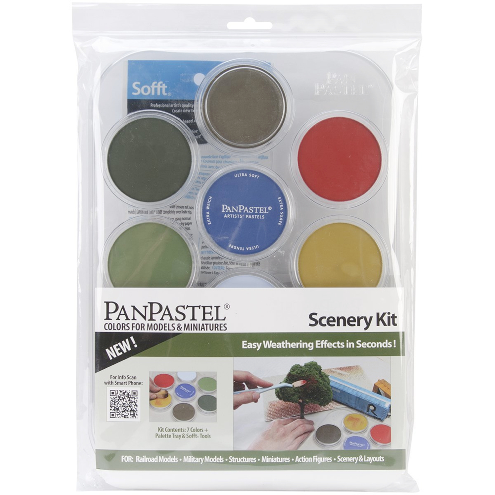 Panpastel 7 Color Weathering Set Scenery
