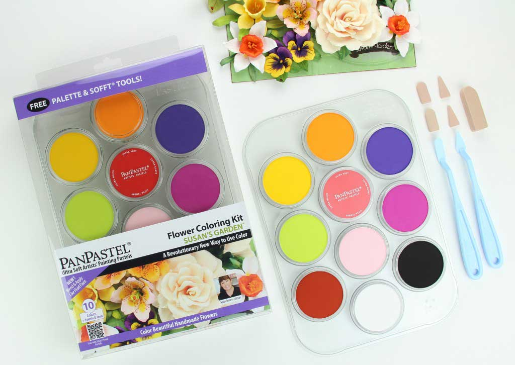 Panpastel 10 Color Flower Coloring Set 1