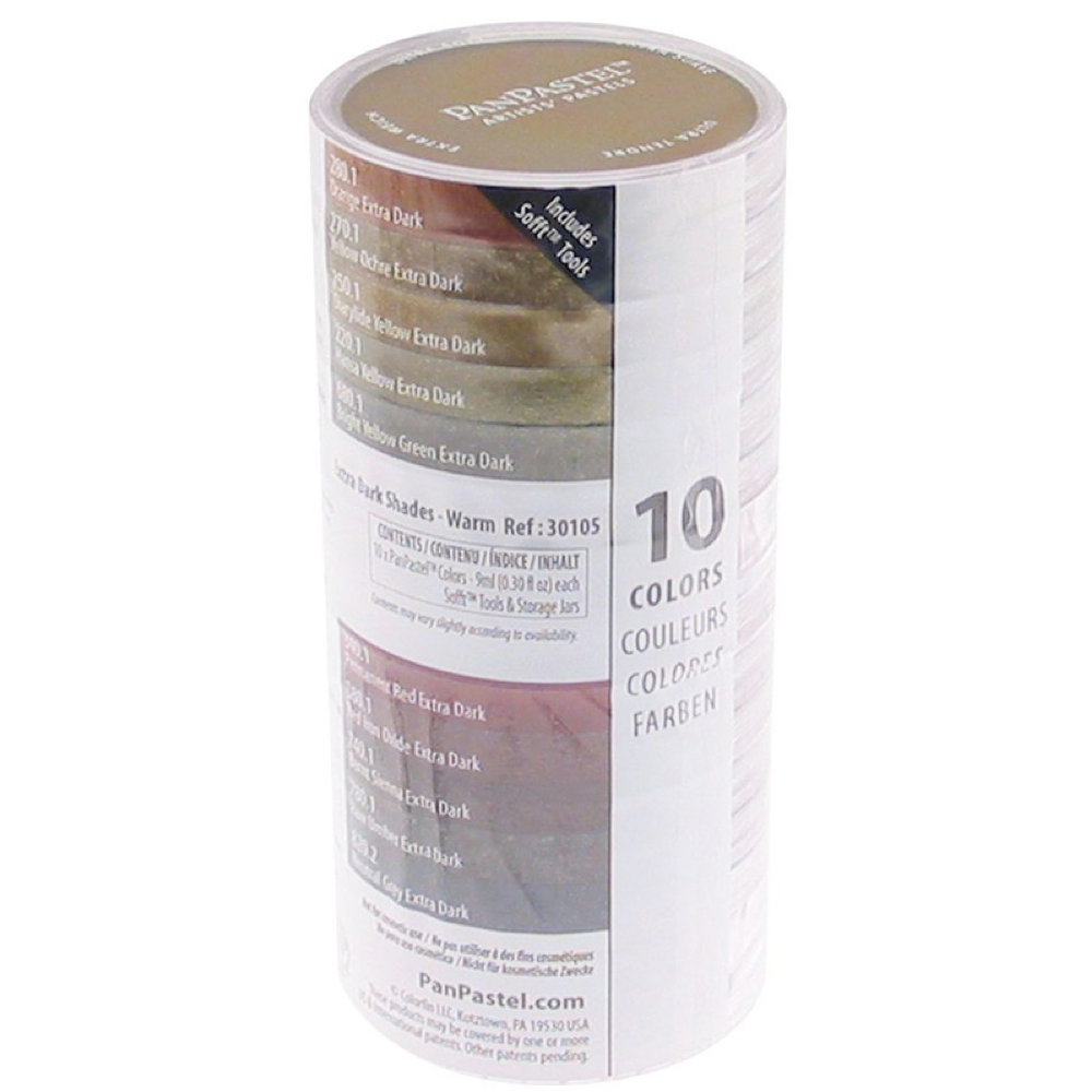 Panpastel 10 Color X-Dark Shades Warm Set