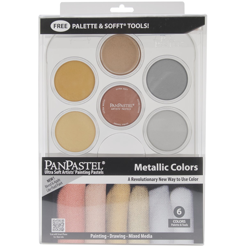 Panpastel 6 Color Metallics Palete Set