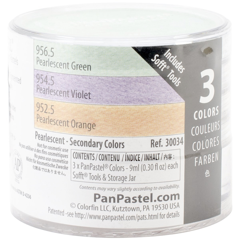 Panpastel 3-Color Pearlescent Secondary Set