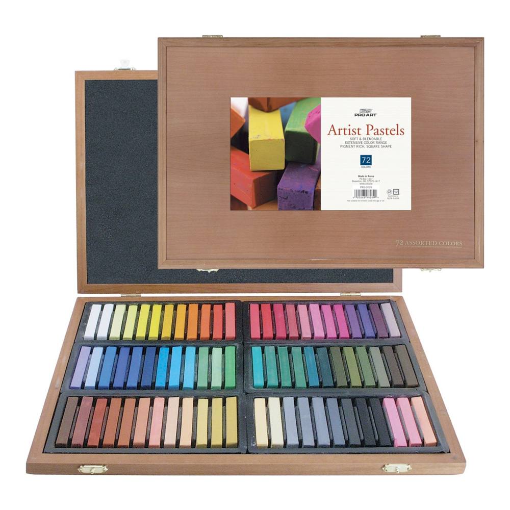 Pro Art Artist Pastel 72 Wood Box Set