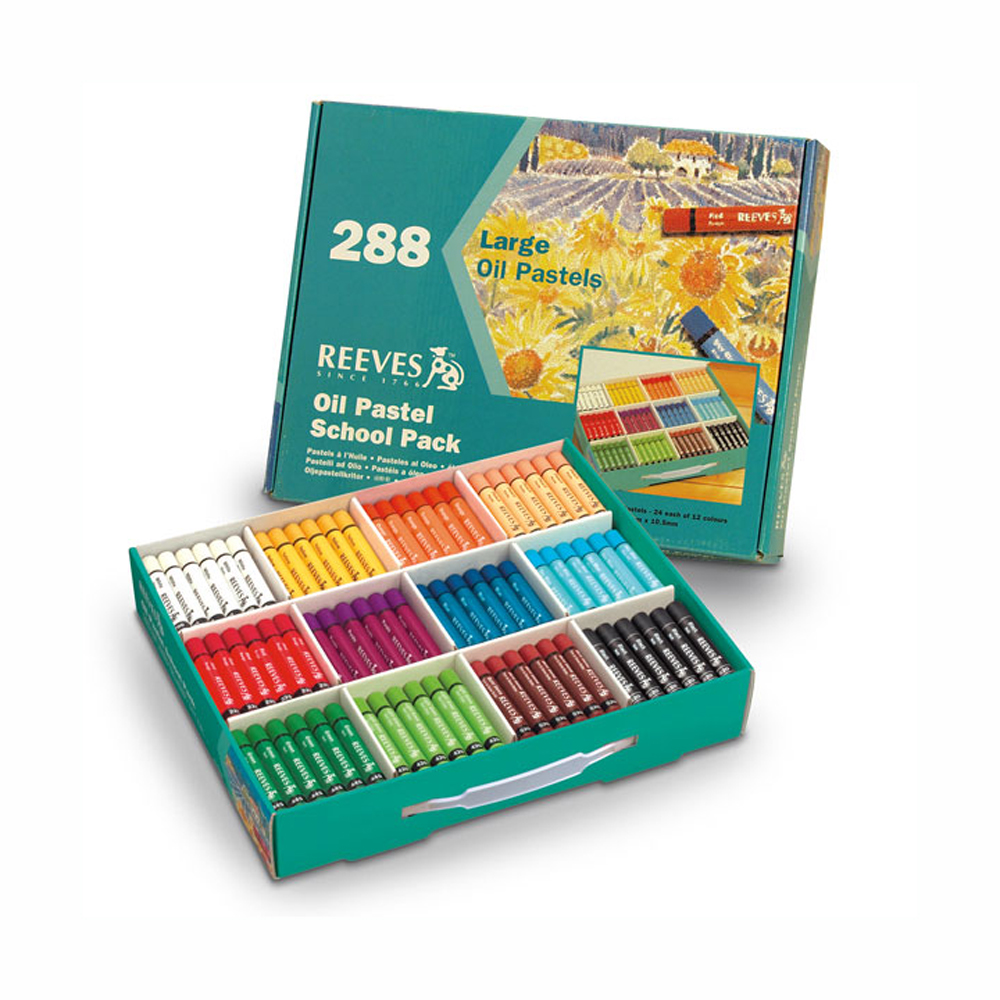 Reeves Large Oil Pastel School Pk 288 Sticks
