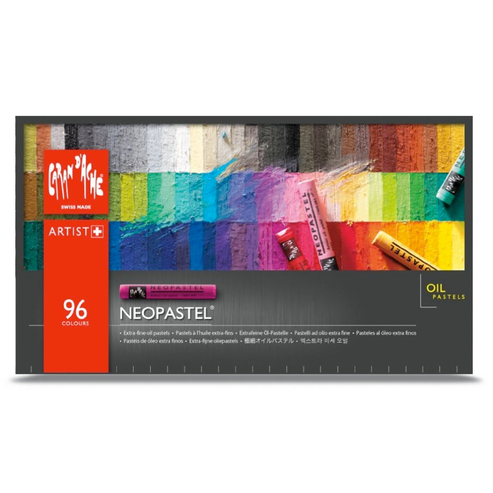Neopastel Set Of 96 Oil Crayons In Metal Box