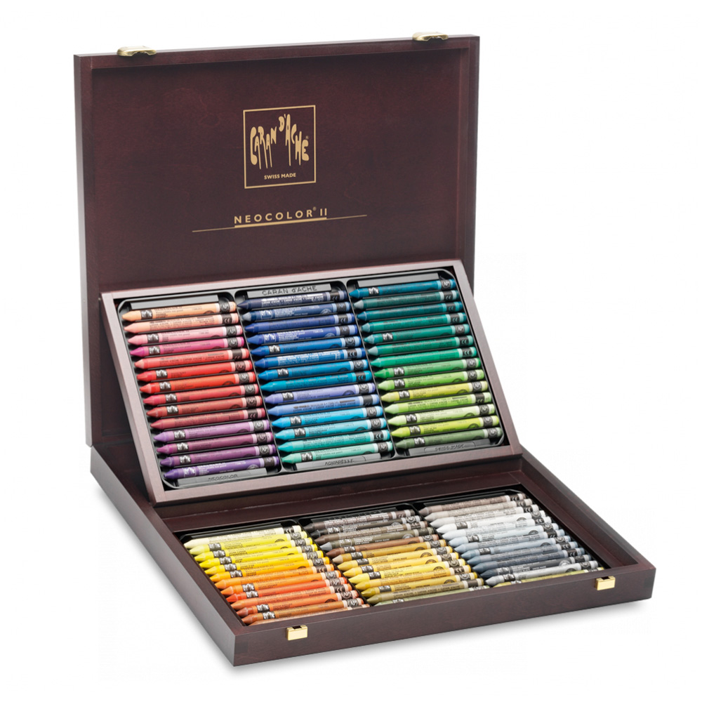 Neocolor Ii 84 Watersoluble Crayons /Wood Box
