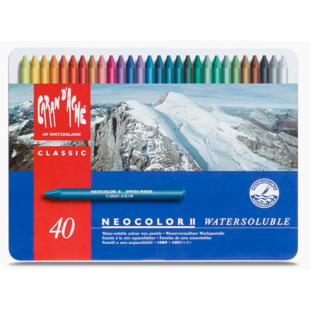 Neocolor Ii 40 Watersoluble Crayon Set