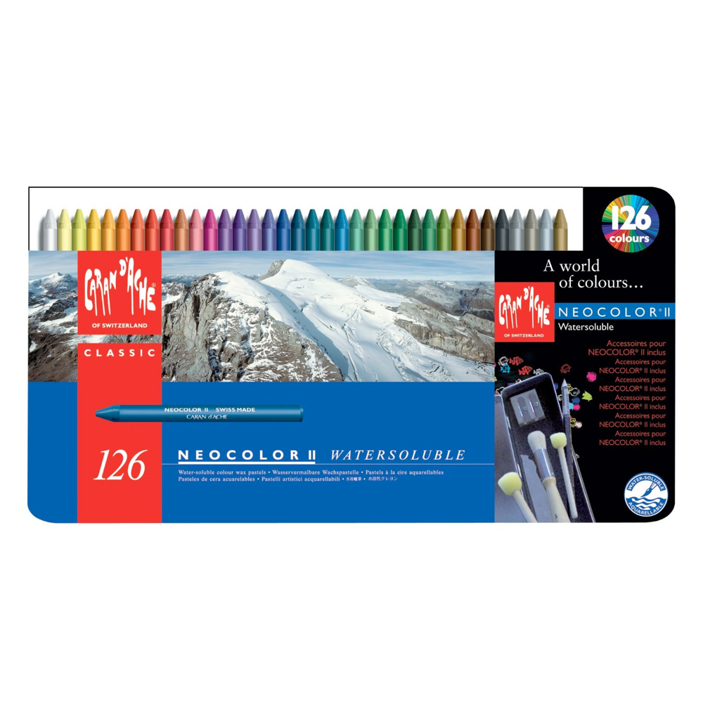 Neocolor Ii 126 Watersoluble Crayon Set