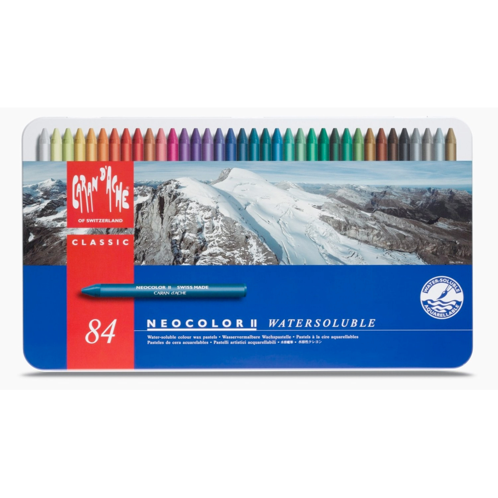 Neocolor Ii 84 Watersoluble Crayon Set