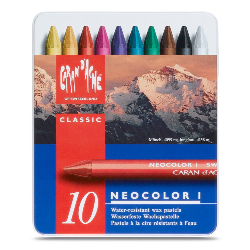 Neocolor Wax Pastels Metal Box Set Of 10
