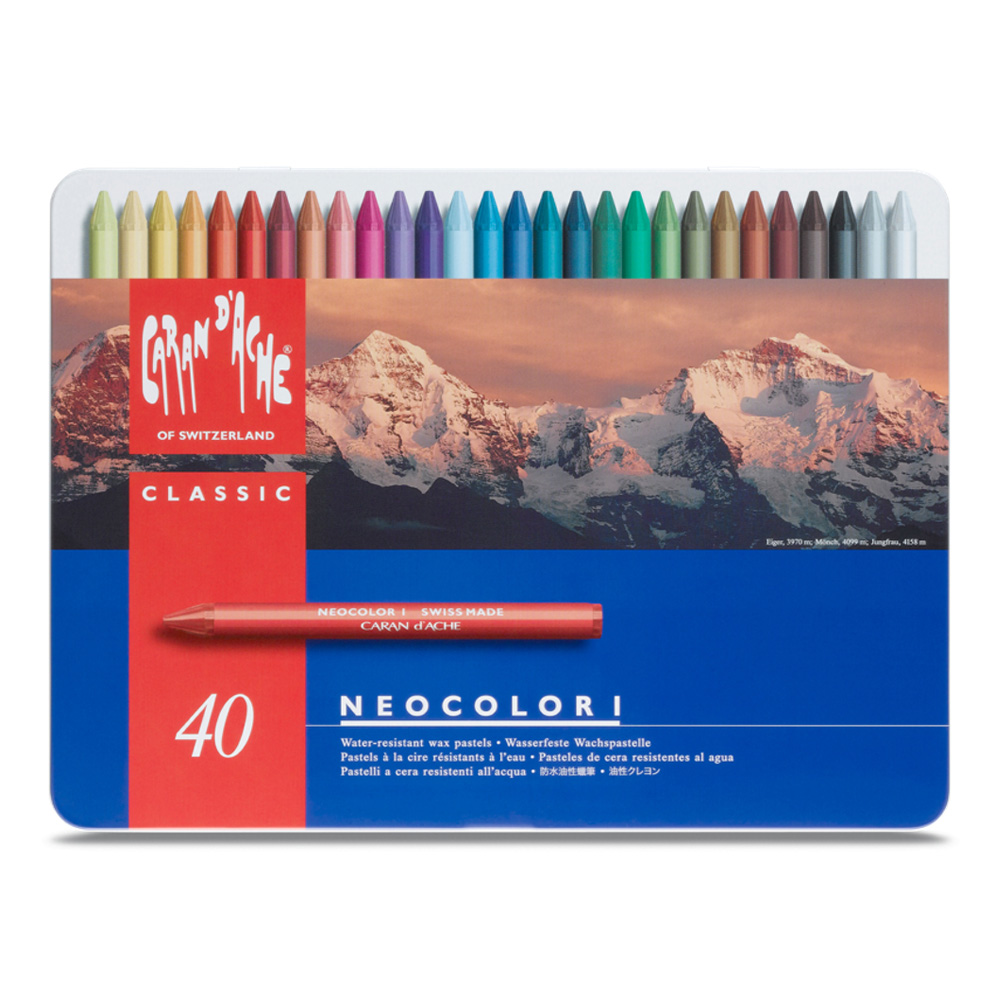 Neocolor Wax Pastels Metal Box Set Of 40