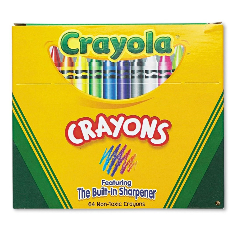 Crayola 52-064D 64 Regular Crayons