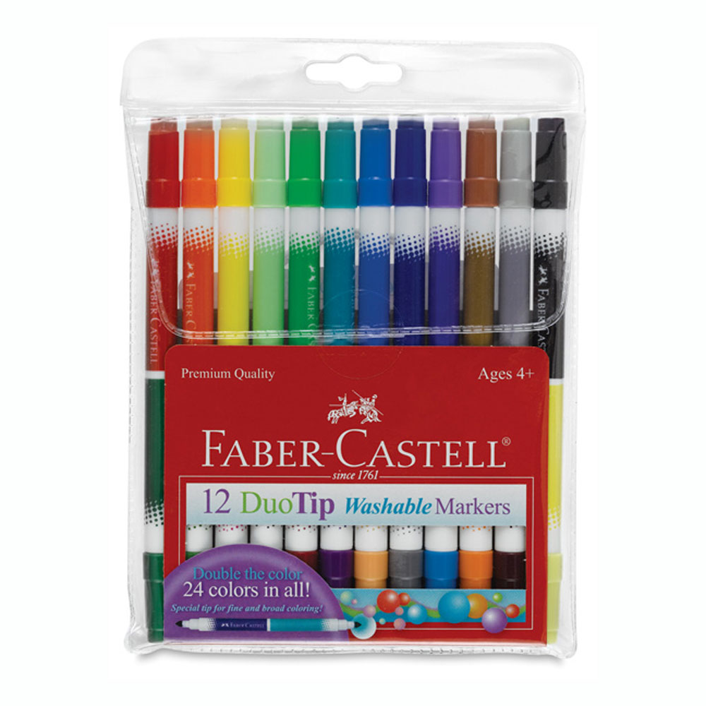 Faber Castell Duotip Washable Markers Pk/12