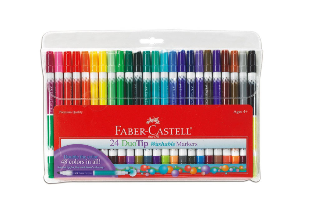 Faber Castell Duotip Washable Markers Pk/24