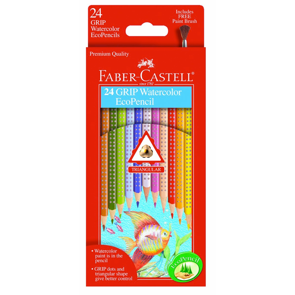 Faber-Castell 12 Grip Watercolor Ecopencils