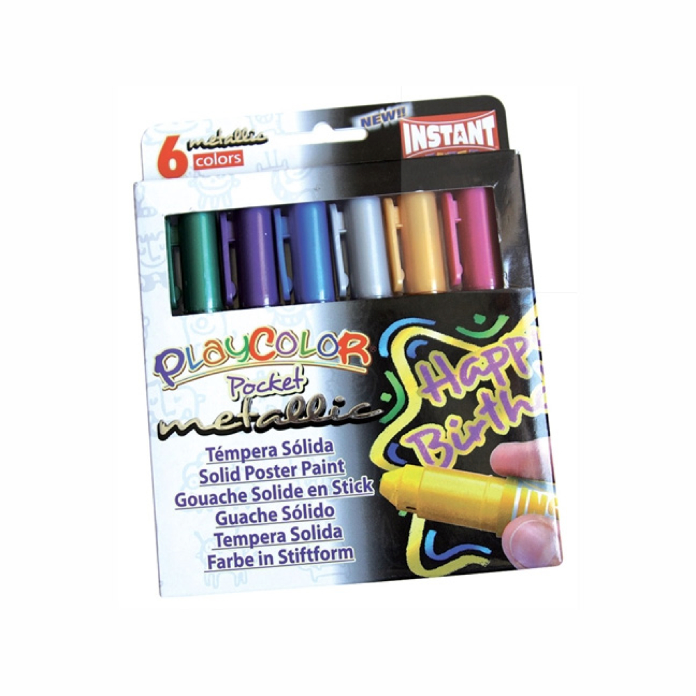 Playcolor Pocket Metallic Set Of 6 Colors