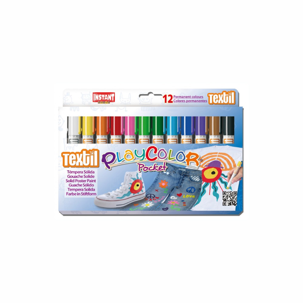 Playcolor Pocket Textil Set Of 12 Colors