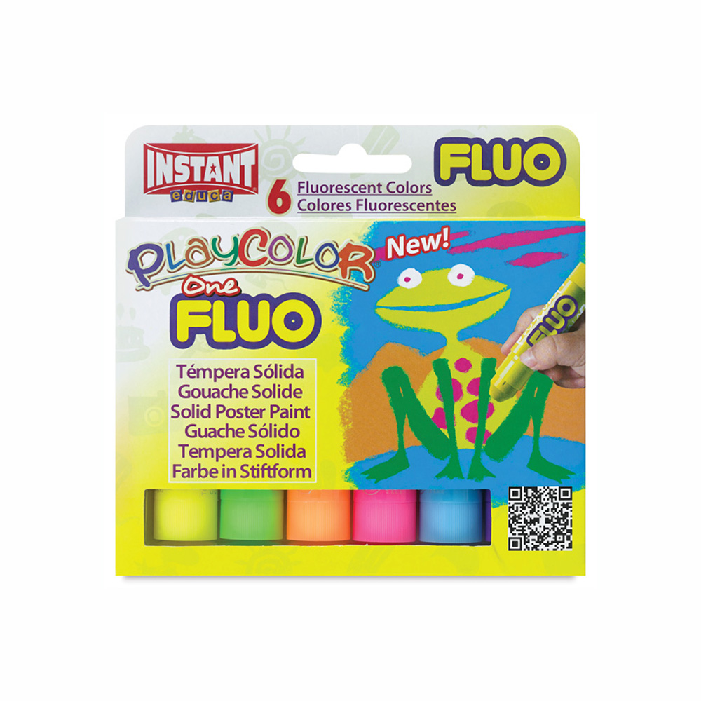 Playcolor Fluo Set Of 6 Colors