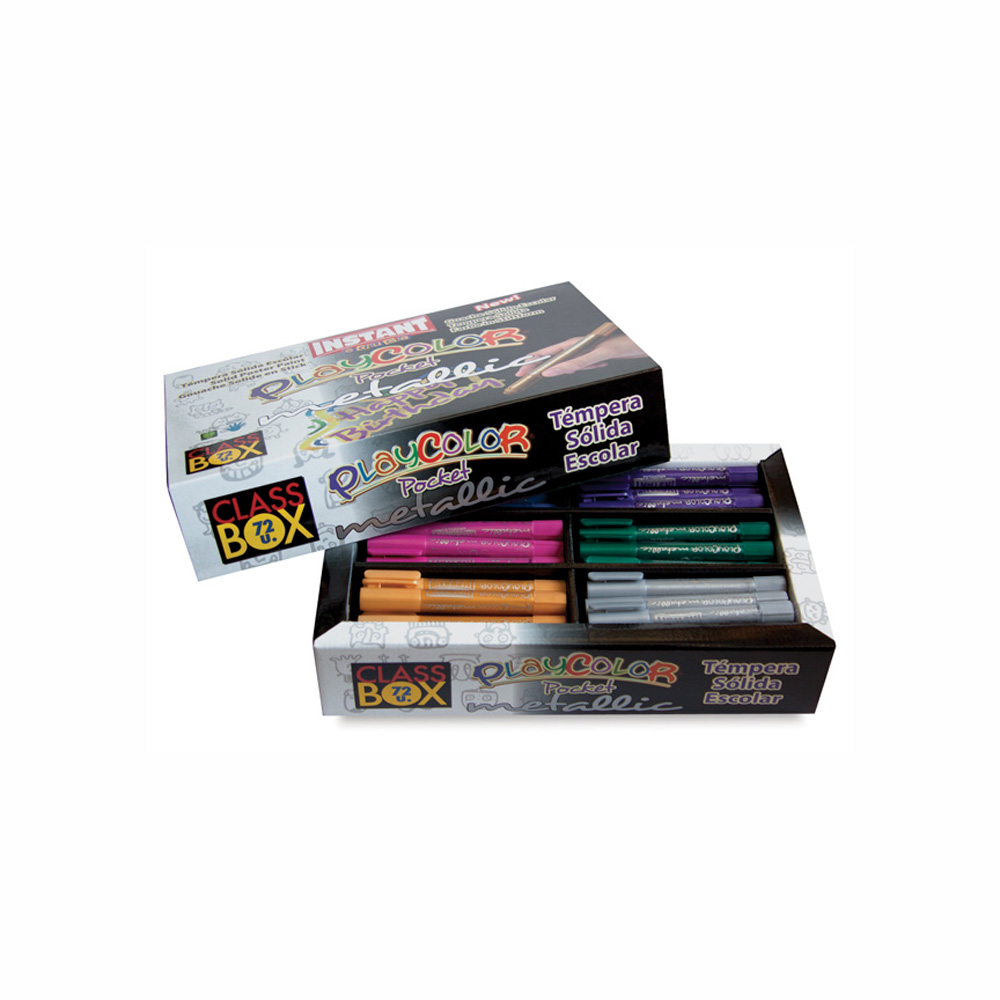 Playcolor Pocket Metallic Class Pack Set/72