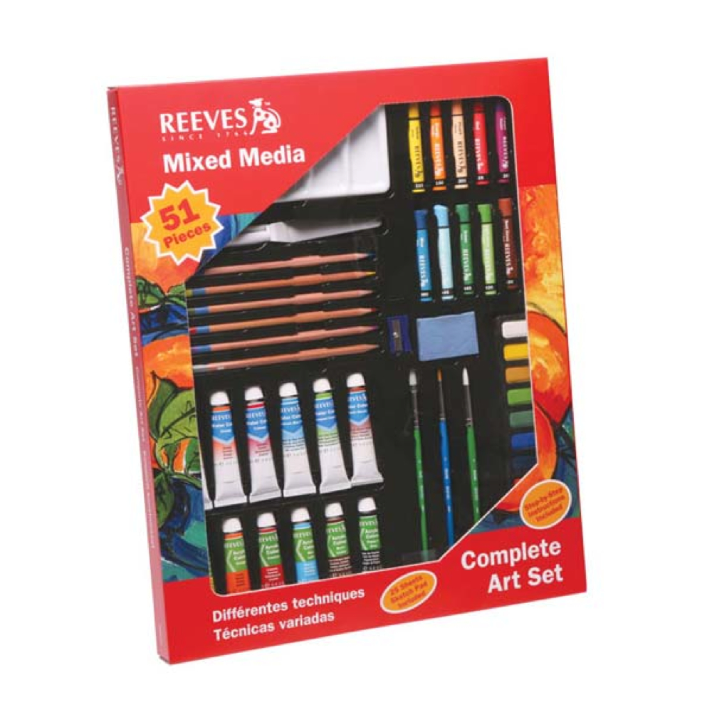 Reeves 51-Piece Mixed Media Complete Art Set