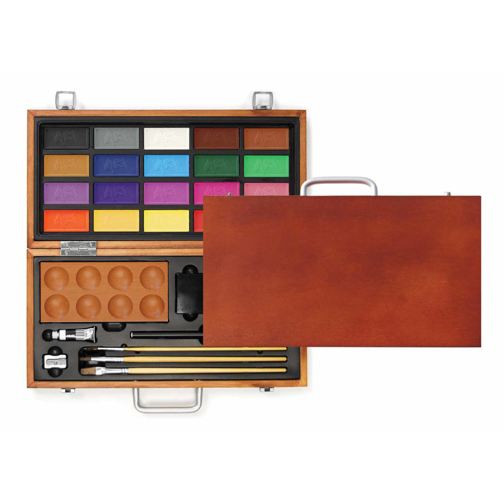 Xonex Wood Box Travel Watercolor Set