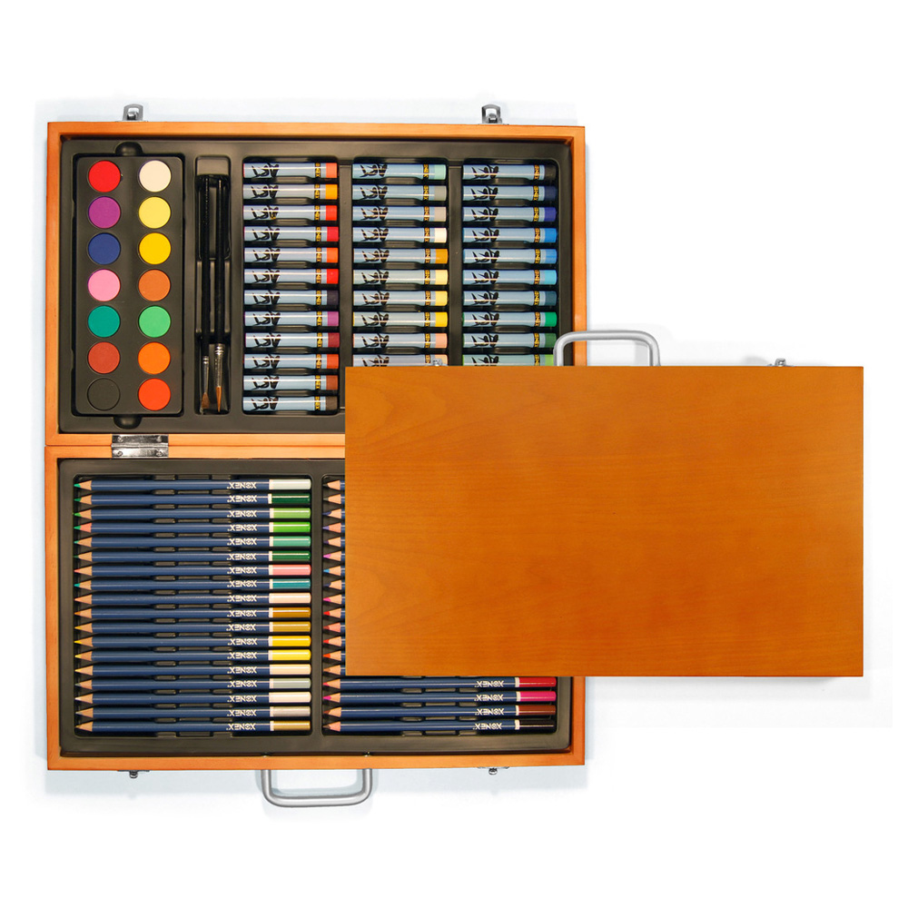 Xonex Wooden Art Set - 89 Pieces
