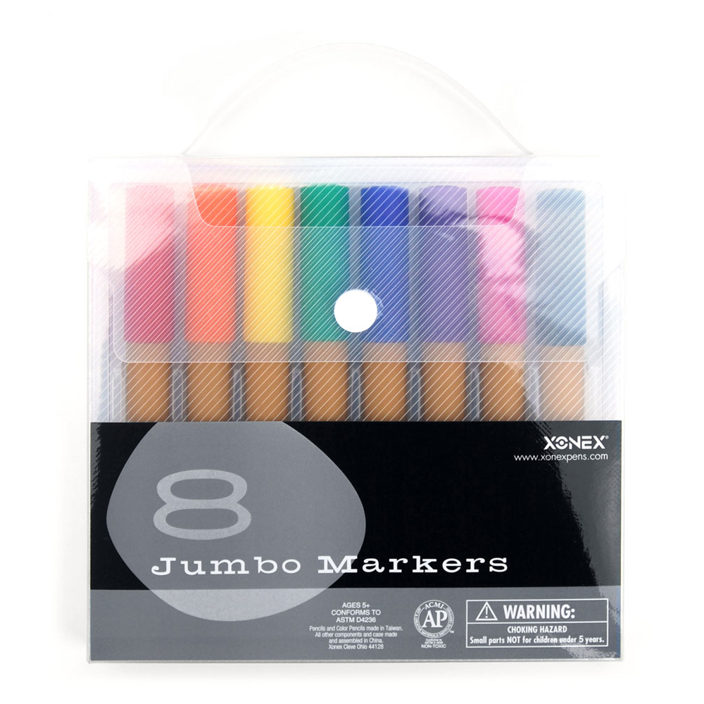 Xonex Snap Case 8 Jumbo Marker Set