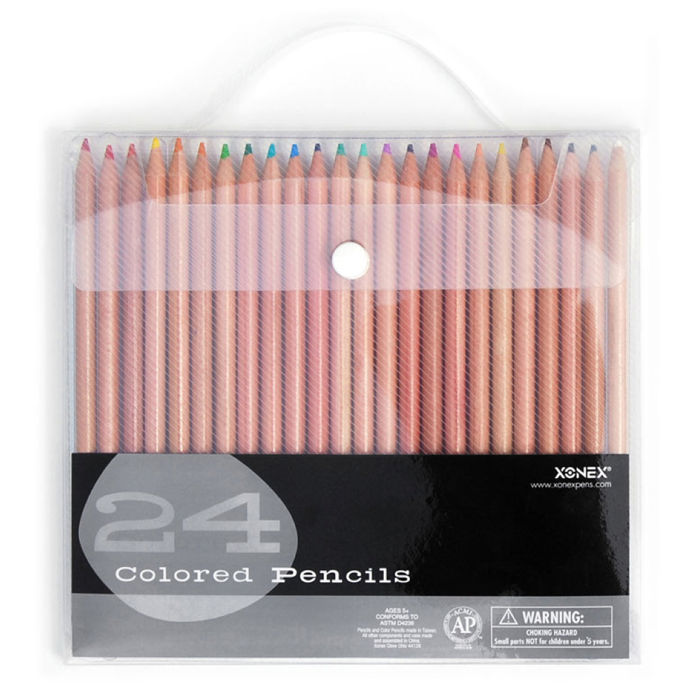 Xonex Snap Case 24 Colored Pencil Set