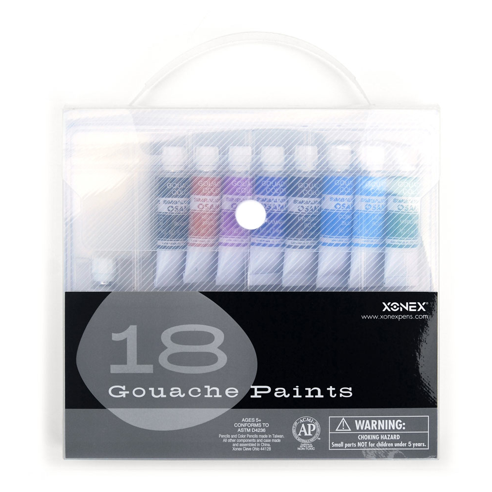 Xonex Snap Case 18 Gouache Paint Set
